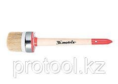 Кисть круглая Профи №2 (20 мм), натуральная щетина, деревянная ручка / MTX