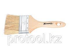 """Кисть плоская """"Евро"""" 1,5"""", натуральная щетина, деревянная ручка// MTX"""