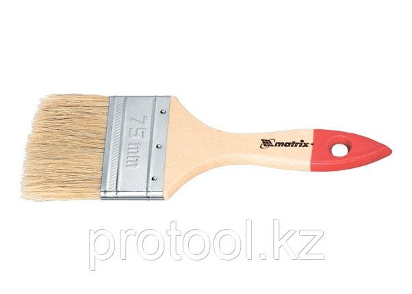 """Кисть плоская """"Стандарт""""  4"""" (100 мм), натуральная щетина, деревянная ручка// MTX, фото 2"""