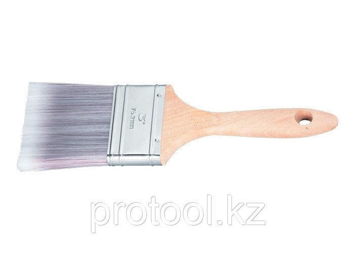 """Кисть плоская Platinum 3"""", искусственная щетина, деревянная ручка / MTX"""