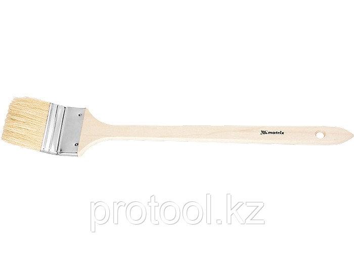 """Кисть радиаторная 2"""", натуральная щетина, деревянная ручка// MTX"""