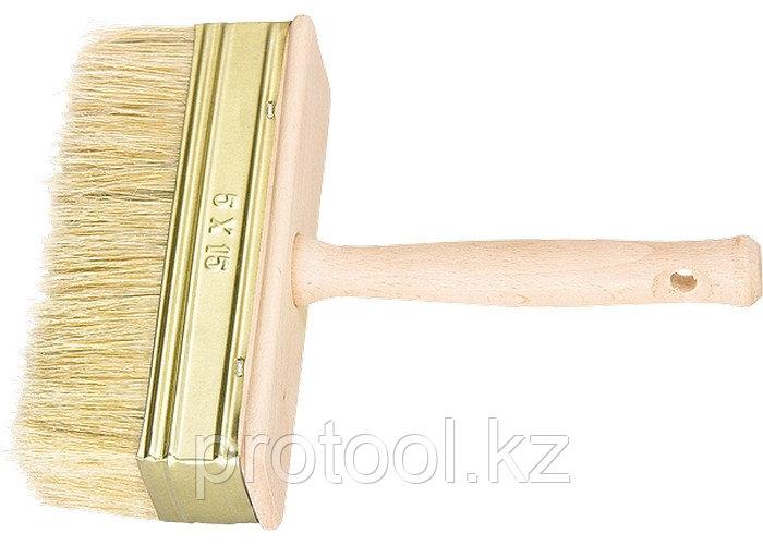 Кисть-ракля, 30 х 90 мм, натуральная щетина, деревянный корпус, деревянная ручка// Россия