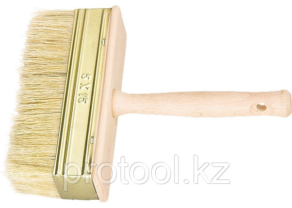 Кисть-ракля, 30 х 90 мм, натуральная щетина, деревянный корпус, деревянная ручка// Россия, фото 2