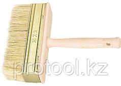 Кисть-ракля, 40 х 150 мм, натуральная щетина, деревянный корпус, деревянная ручка// Россия