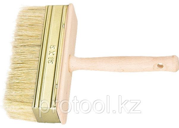 Кисть-ракля, 40 х 150 мм, натуральная щетина, деревянный корпус, деревянная ручка// Россия, фото 2