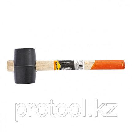 Киянка резиновая, 225 г, черная резина, деревянная рукоятка// SPARTA, фото 2
