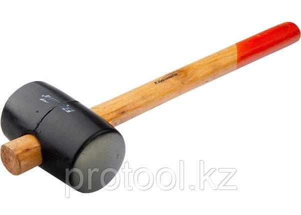 Киянка резиновая, 450 г, черная резина, деревянная рукоятка// SPARTA, фото 2