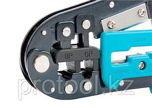 Клещи для обжима телефонных и компьютерных клемм RJ-45,6P,8P и RJ-11/12,6P,8P // GROSS, фото 2