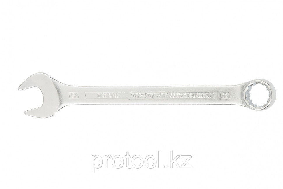 Ключ комбинированный 15 мм, CrV, холодный штамп // GROSS