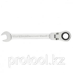 Ключ комбинированный трещоточный, 13мм, CrV, шарнирный, зерк.хром// MATRIX PROFESSIONAL, фото 2