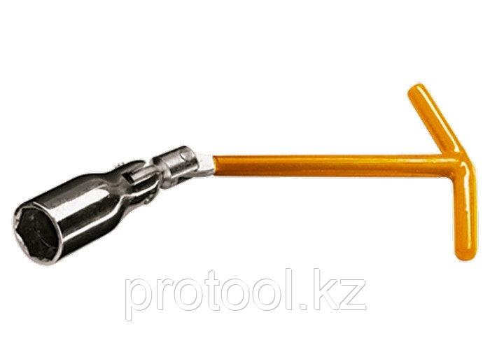Ключ свечной, 16 мм, с шарниром// SPARTA