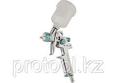 Краскораспылитель AG 810 HVLP, гравитационный, сопло 0,8 мм и 1 мм //Stels