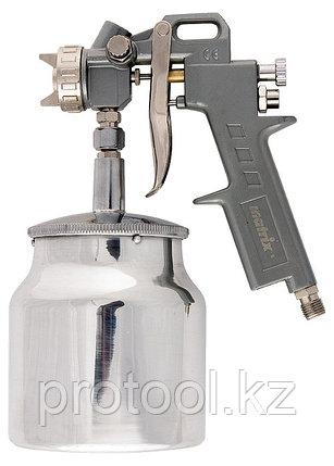Краскораспылитель пневмат. с нижним бачком V=0,75 л + сопла диаметром 1.2, 1.5 и 1.8 мм// MATRIX, фото 2