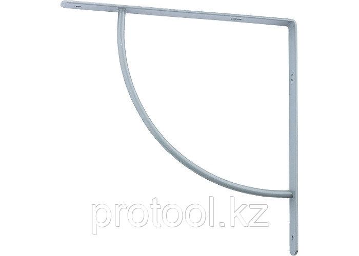 Кронштейн арочный (выгнутый) 200х200х20 мм, серый//СИБРТЕХ