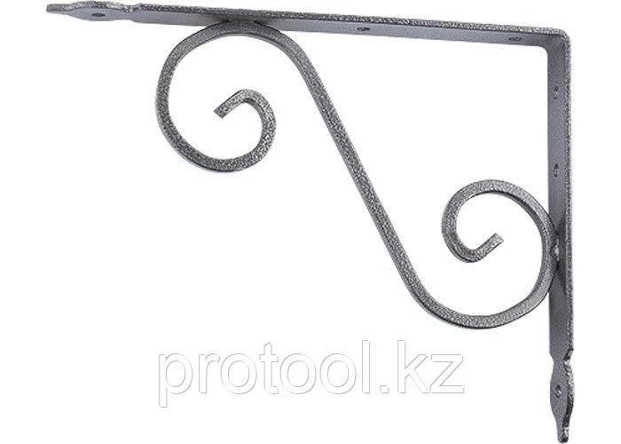 Кронштейн декоративный, 190х140х25х3 мм, темно-серый//СИБРТЕХ