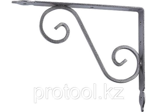 Кронштейн декоративный, 190х140х25х3 мм, темно-серый//СИБРТЕХ, фото 2