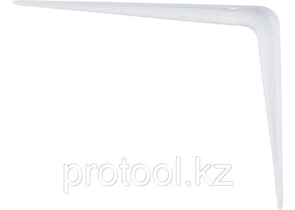 Кронштейн угловой с ребром, 350х400 мм, белый// СИБРТЕХ, фото 2