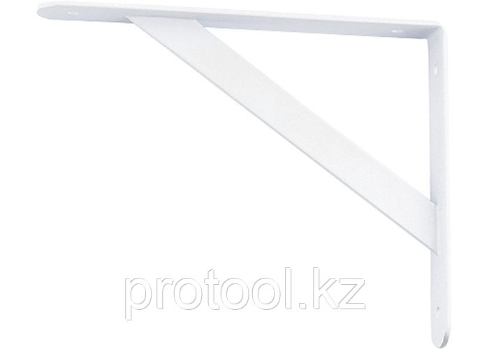 Кронштейн усиленный 500х350х30х4 мм, белый//СИБРТЕХ