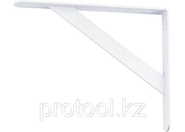 Кронштейн усиленный 500х350х30х4 мм, белый//СИБРТЕХ, фото 2