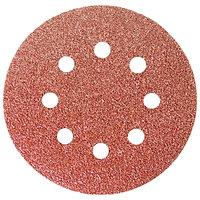 """Круг абразивный на ворсовой подложке под """"липучку"""", перфорированный, P 24, 125 мм, 5 шт.// MATRIX"""