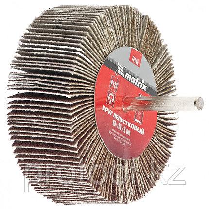Круг лепестковый для дрели, 80 х 40 х 6 мм, P 60 // MATRIX, фото 2