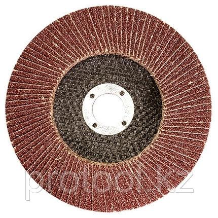 Круг лепестковый торцевой КЛТ-1, зернистость Р 80, 125 х 22,2 мм //Россия, фото 2