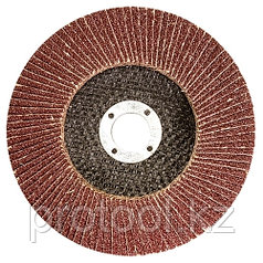 Круг лепестковый торцевой КЛТ-1, зернистость Р120(10Н), 115 х 22,2 мм, (БАЗ)//Россия