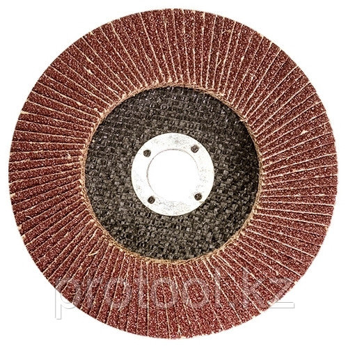 Круг лепестковый торцевой КЛТ-1, зернистость Р120(10Н), 125 х 22,2 мм, (БАЗ)//Россия