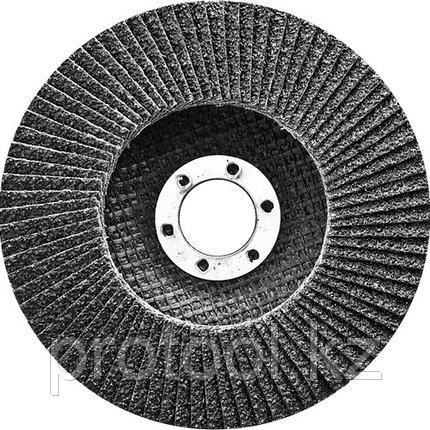 Круг лепестковый торцевой, конический, Р 80, 125 х 22,2 мм// СИБРТЕХ, фото 2