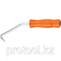 Крюк для вязки арматуры, 210 мм, деревянная рукоятка // СИБРТЕХ