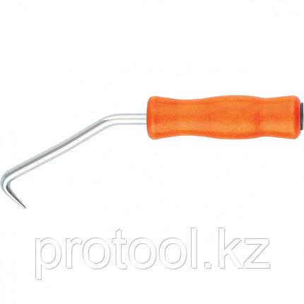 Крюк для вязки арматуры, 210 мм, деревянная рукоятка // СИБРТЕХ, фото 2