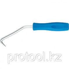 Крюк для вязки арматуры, 210 мм, пластиковая рукоятка // СИБРТЕХ