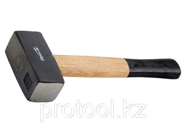 Кувалда, 2000 г, кованая головка, деревянная двухцветная рукоятка// SPARTA, фото 2