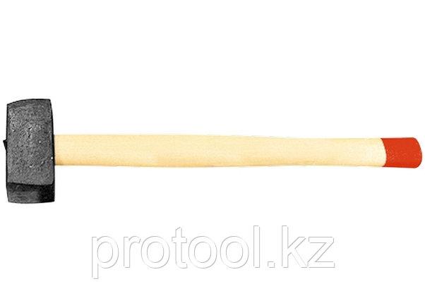 Кувалда, 3000 г, кованая головка, деревянная рукоятка (Павлово) //Россия, фото 2