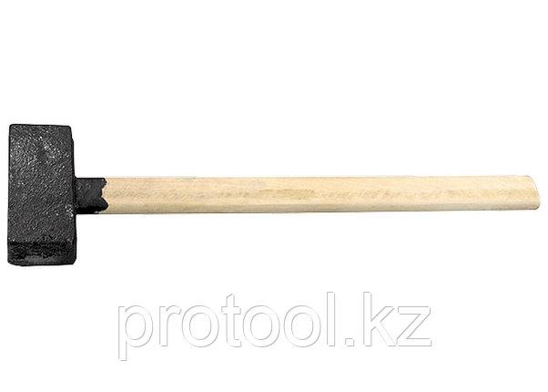 Кувалда, 4000 г, литая головка, деревянная рукоятка// Россия, фото 2