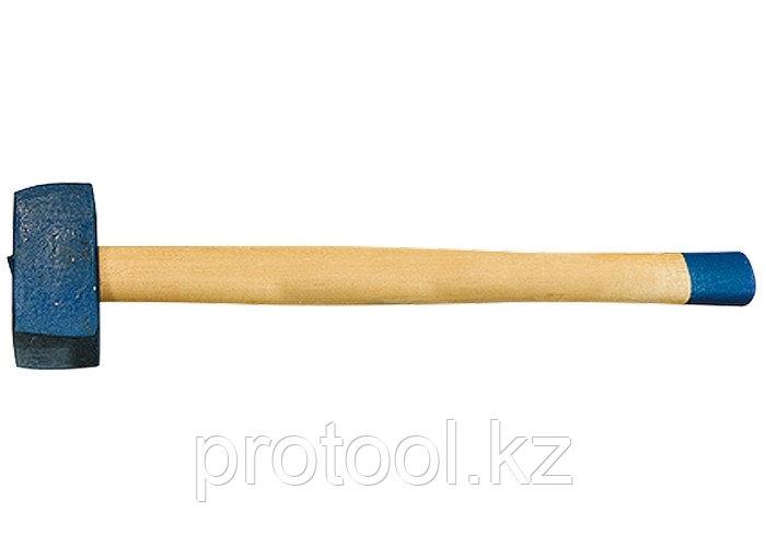 Кувалда, 6000 г, кованая головка, деревянная рукоятка (Труд)// Россия