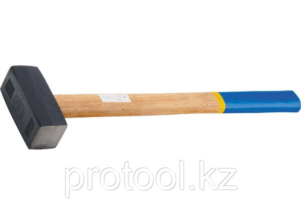 Кувалда, 6000 г, кованая головка, деревянная рукоятка// СИБРТЕХ, фото 2