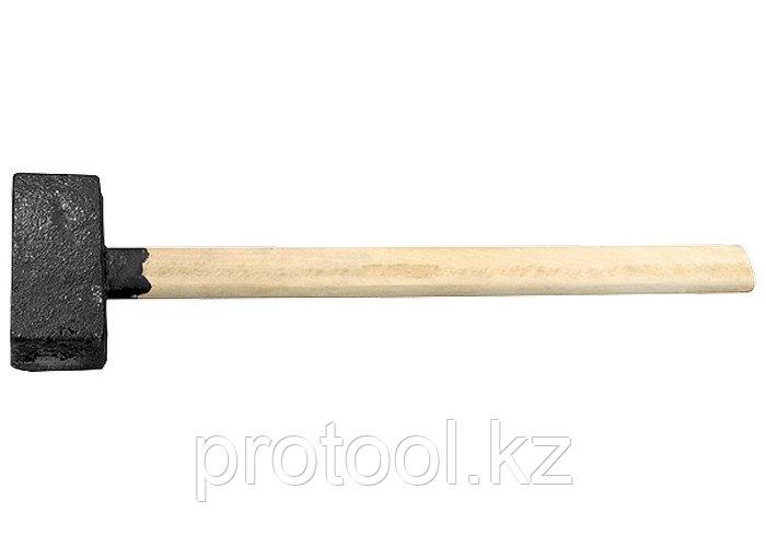 Кувалда, 8000 г, литая головка, деревянная рукоятка// Россия