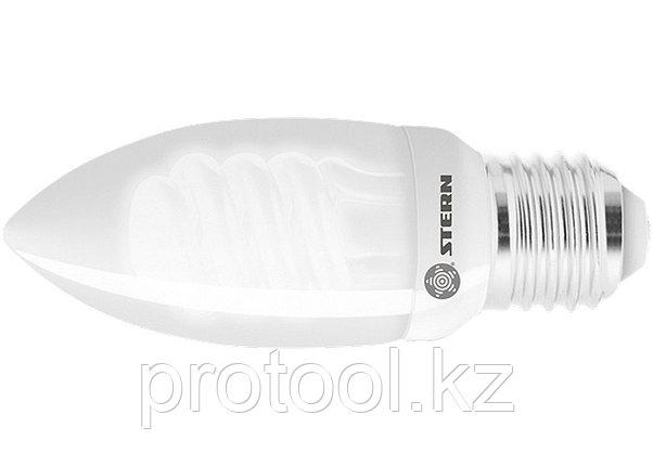 Лампа компактная люминесцентная свечка, 9W, 2700K, E27, 8000ч., Stern, фото 2