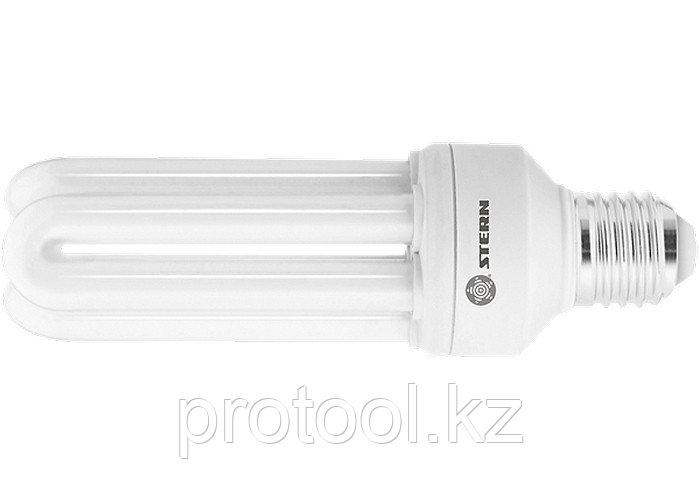 Лампа компактная люминесцентная, U-образная, 20W, 4000K, E27, 8000ч., Stern