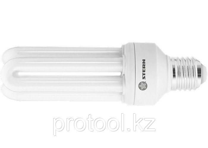 Лампа компактная люминесцентная, U-образная, 26W, 4000K, E27, 8000ч., Stern