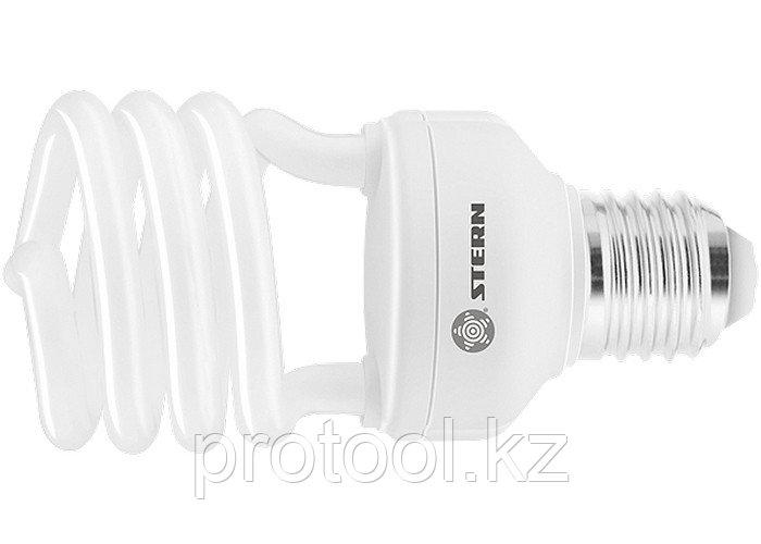 Лампа компактная люминесцентная, полуспиральная, 20W, 2700K, E27, 8000ч., Stern