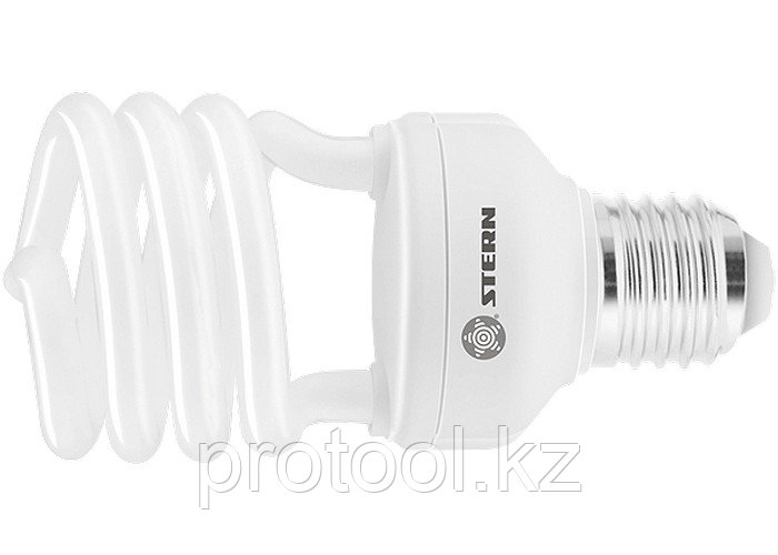 Лампа компактная люминесцентная, полуспиральная, 20W, 4100K, E27, 8000ч., Stern