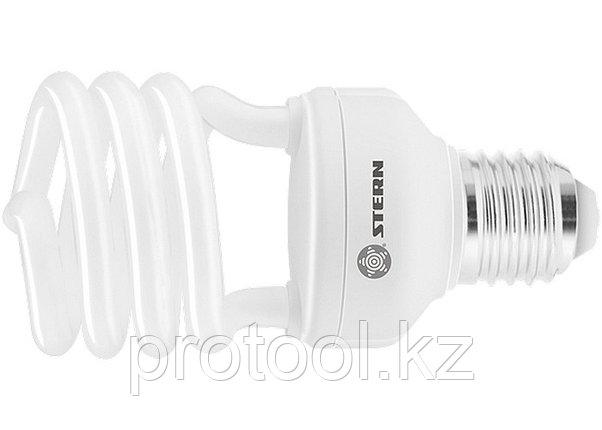 Лампа компактная люминесцентная, полуспиральная, 20W, 4100K, E27, 8000ч., Stern, фото 2