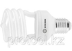 Лампа компактная люминесцентная, полуспиральная, 11W, 2700K, E27, 8000ч., Stern