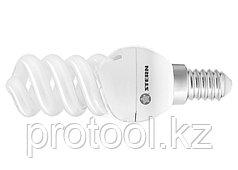 Лампа компактная люминесцентная, спиральная, 9W, 2700K, E14, 8000ч., Stern