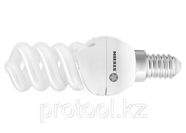 Лампа компактная люминесцентная, спиральная, 9W, 2700K, E14, 8000ч., Stern, фото 2