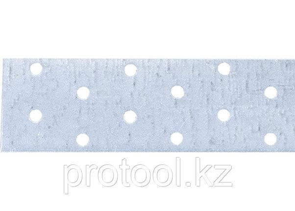 Лента перфорированная монтажная, 2 мм, LM 4 смх10 м, отверстие 4,5–5 мм, цинк// СИБРТЕХ//Россия, фото 2