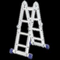 Лестница шарнирная алюминиевая, 4х2// Сибртех Россия