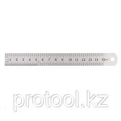 Линейка измерительная, 150 мм, металлическая// SPARTA